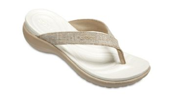 Crocs Womens Capri Shimmer Flip